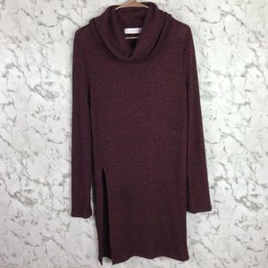 ASTR the Label Cowl Neck Burn Out Tunic